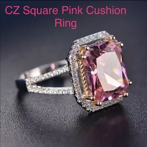 Pink CZ Ring size 6